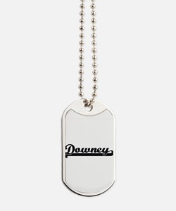 Downey California Classic Retro Design Dog Tags