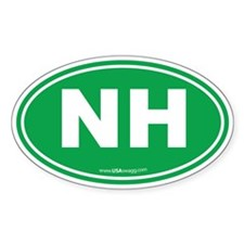 New Hampshire NH Euro Oval Decal