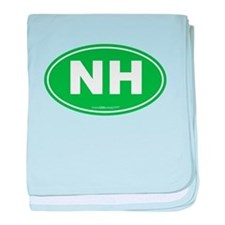 New Hampshire NH Euro Oval baby blanket