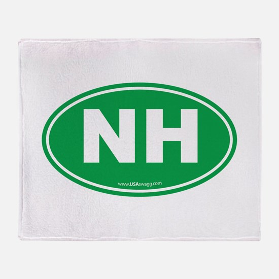 New Hampshire NH Euro Oval Throw Blanket