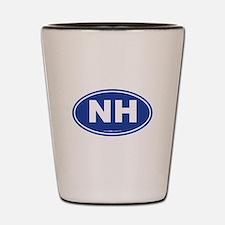 New Hampshire NH Euro Oval Shot Glass