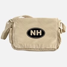 New Hampshire NH Euro Oval Messenger Bag
