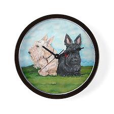Scottish Terrier Companions Wall Clock