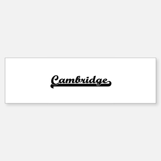 Cambridge Massachusetts Classic Ret Bumper Bumper Bumper Sticker