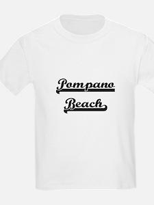 Pompano Beach Florida Classic Retro Design T-Shirt