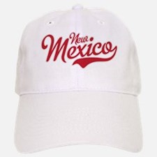 New Mexico Script Font Crimson Baseball Baseball Baseball Cap