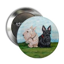 Scottish Terrier Companions Button