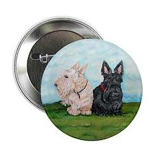 "Scottish Terrier Companions 2.25"" Button (10 pack)"