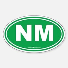 New Mexico NM Euro Oval Sticker (Oval)