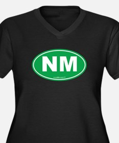 New Mexico N Women's Plus Size V-Neck Dark T-Shirt