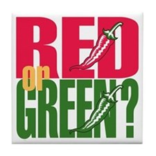 Red or Green? Tile Coaster