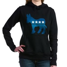 Democrat Donkey Women's Hooded Sweatshirt