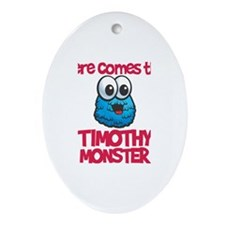 Timothy Monster Oval Ornament