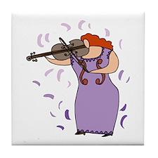 Viola Player Tile Coaster