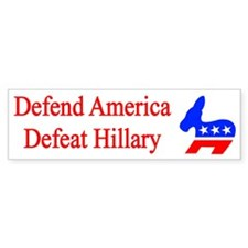 Defeat Hillary Bumper Bumper Sticker