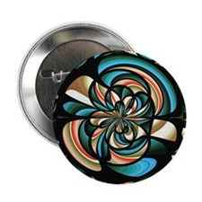 """Almost floral abstract 2.25"""" Button (10 pack)"""