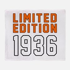 Limited Edition 1936 Throw Blanket