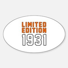 Limited Edition 1931 Decal