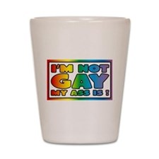 I'm not gay my ass is Shot Glass