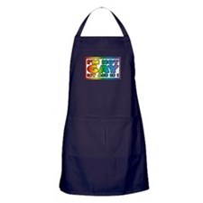 I'm not gay my ass is Apron (dark)