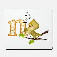 N is for Nightingale Mousepad
