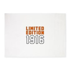 Limited Edition 1916 5'x7'Area Rug