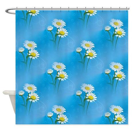 Blue Daisies Shower Curtain