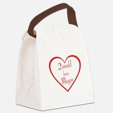 DONALD LOVES MEGYN - TRUMP AND KE Canvas Lunch Bag