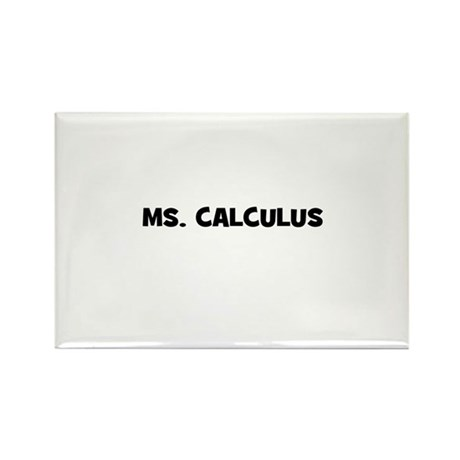 Ms. Calculus Rectangle Magnet