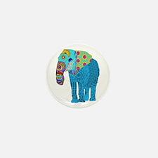 Tangled Elephant Blue Mini Button (10 pack)
