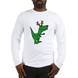 Christmas dinosaur Long Sleeve T Shirts
