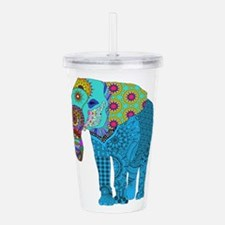 Tangled Elephant Blue Acrylic Double-wall Tumbler