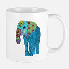 Tangled Elephant Blue Mugs