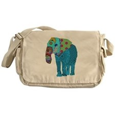 Tangled Elephant Blue Messenger Bag