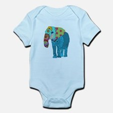 Tangled Elephant Blue Body Suit