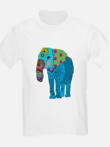 Tangled Elephant Blue T-Shirt