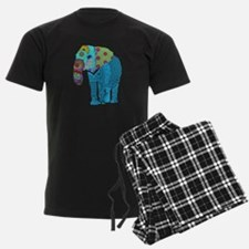 Tangled Elephant Blue pajamas