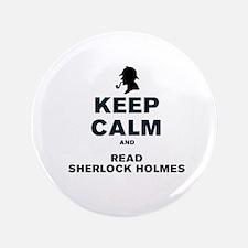 KEEP CALM AND READ SHERLOCK HOLMES Button