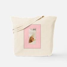 Baby Girl Baby Feet Tote Bag