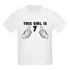 This Girl Is 7 T-Shirt