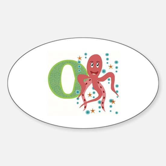 O is for Octopus Sticker (Oval)
