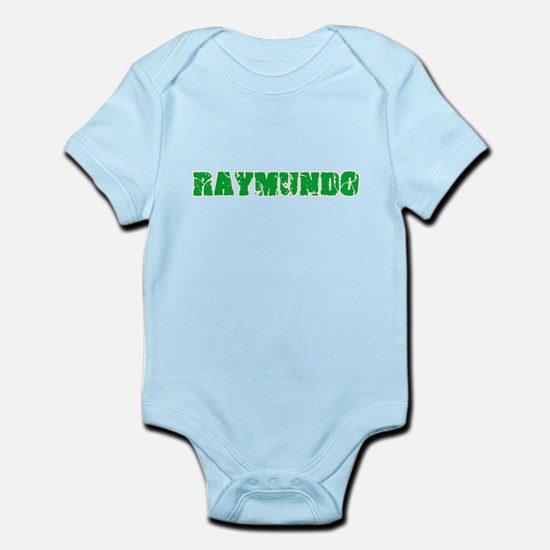 Raymundo Name Weathered Green Design Body Suit