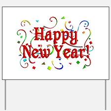 Happy New Year Yard Sign