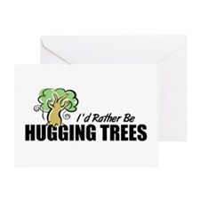 Hugging Trees Greeting Card