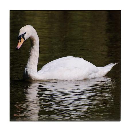 Swan on Lake Tile Coaster