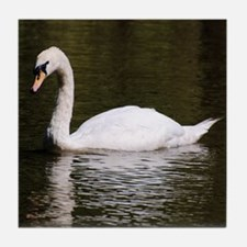 Swan on Lake Tile Coaster
