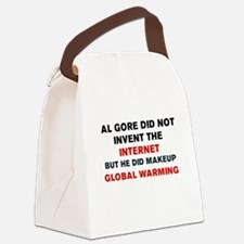 AL GORE DID NOT INVENT THE INTERN Canvas Lunch Bag
