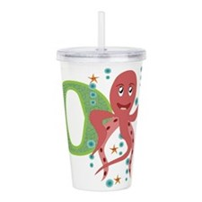 O is for Octopus Acrylic Double-wall Tumbler