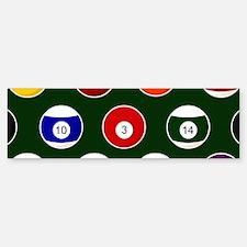 Green Pool Ball Billiards Pattern Bumper Bumper Bumper Sticker