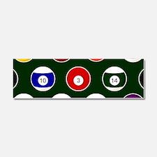 Green Pool Ball Billiards Pattern Car Magnet 10 x